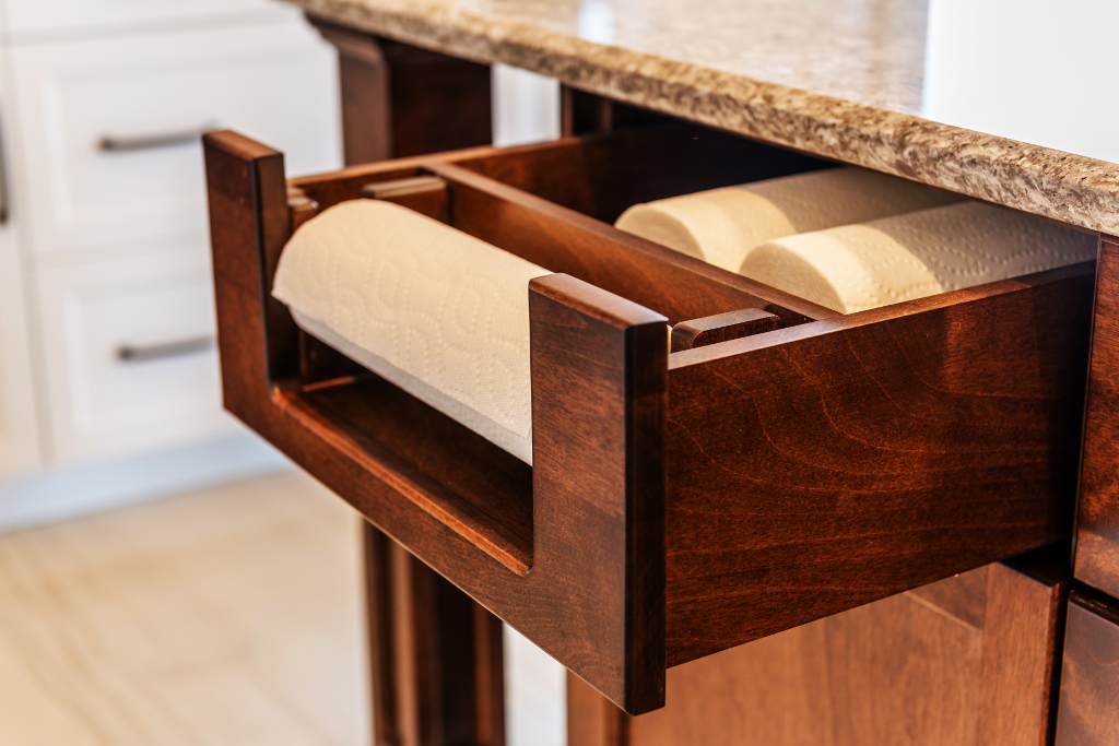Custom paper towel drawer