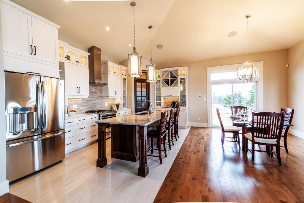 White PVC Shaker style kitchen